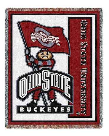 The Ohio State University Mascot Stadium Blanket $65.00