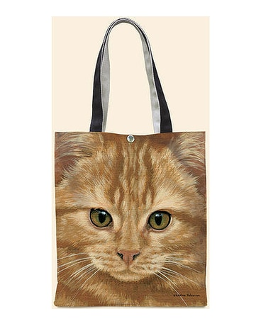 Orange Tabby Oil Cloth Tote