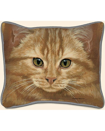 Orange Tabby Pillow