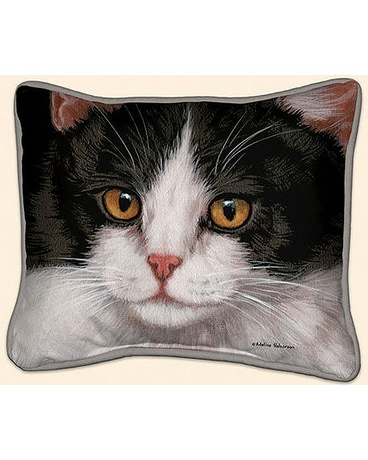 Black & White Cat Pillow $28.99