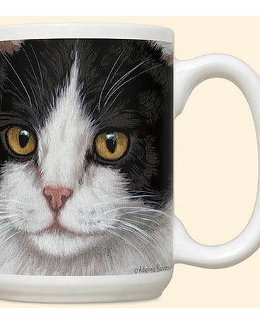 Black White Cat Mug 12 95
