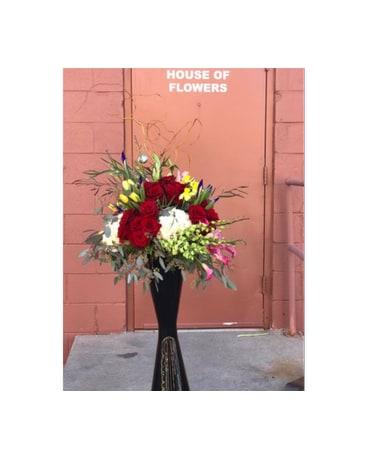 Large Black Vase In Lubbock Tx House Of Flowers