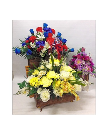 Cemetery basket memorial silk flowers delivery lynn ma welch florist quick view welchs silk cemetery baskets mightylinksfo