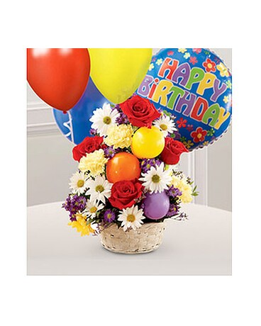 Happy Birthday Flower Basket