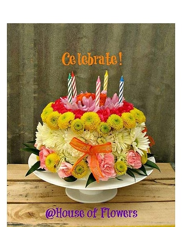 Remarkable Fresh Flower Birthday Cake In Roswell Nm House Of Flowers Funny Birthday Cards Online Inifofree Goldxyz