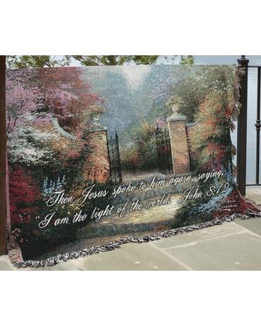 The Victorian Garden Woven Throw In Tipp City Oh Tipp Florist Shop
