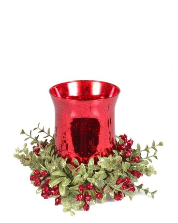 GANZ  TEA LIGHT HOLDER RED