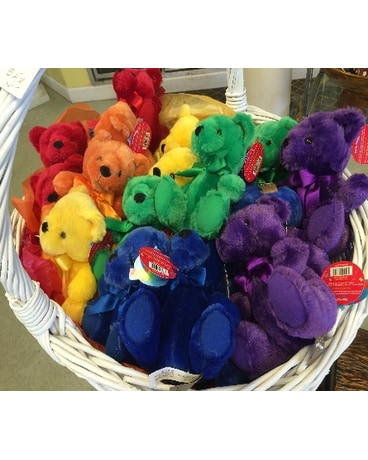 Plush Rainbow Bear
