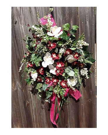 Burgundy Magnolia Wreath