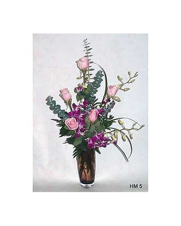 Roses Orchids Vase In Aston Pa Blairs Florist