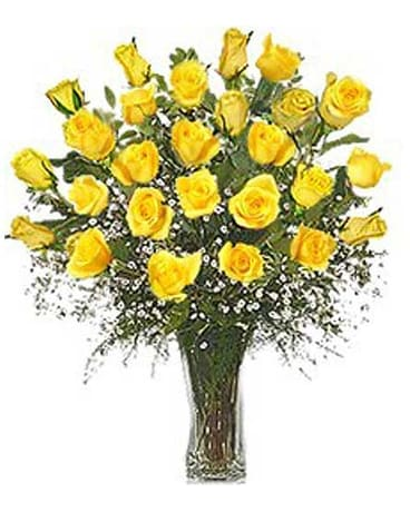 Beautiful Yellow Roses 24 roses