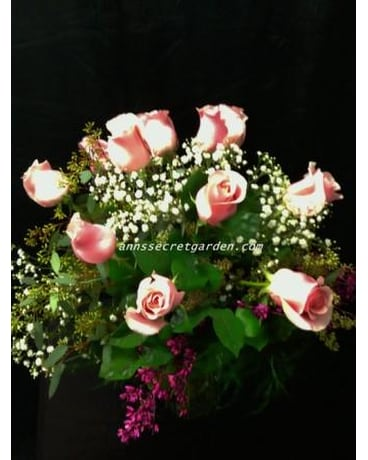 Pink Roses (12) With multiple Fillers