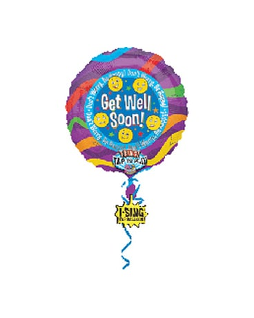 Get Well (Don't Worry Be Happy) Singing Balloon