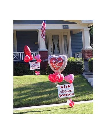 Yard Signs With Balloons In Bethany Ok Ann S Secret Garden