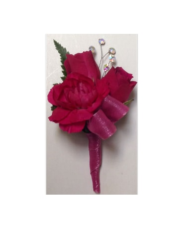 Splashy Hot Pink Boutonniere
