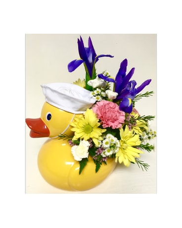 Ceramic Duck Keepsake - 3 hat colors available