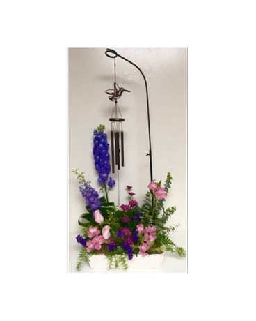 How Does Your Garden Grow Chimes in Fresh Flowers