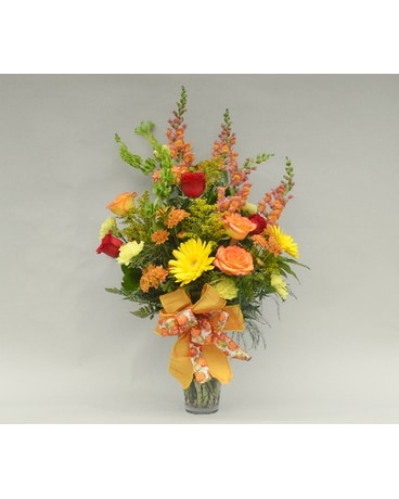 Fall Glass Vase Arrangement
