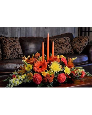 Premium Give Thanks Centerpiece In Utica Ny Chester S Flower Shop