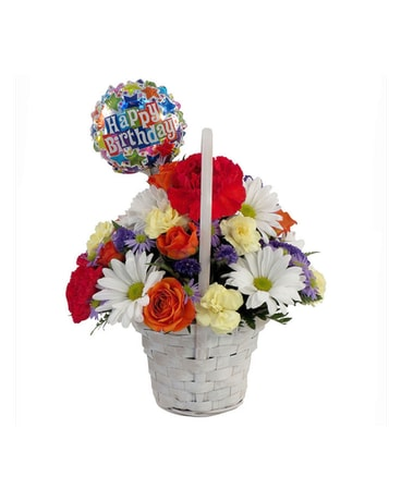 Happy Birthday Basket Bouquet