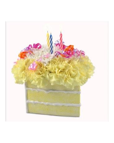 Brilliant Birthday Cake Slice Bouquet In Southfield Mi Thrifty Florist Personalised Birthday Cards Akebfashionlily Jamesorg