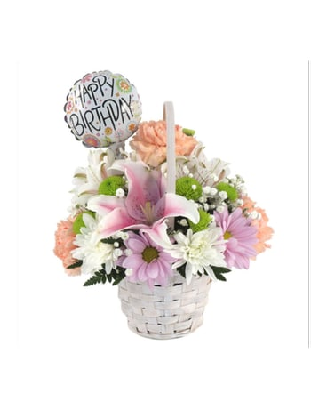 Birthday Basket Bouquet