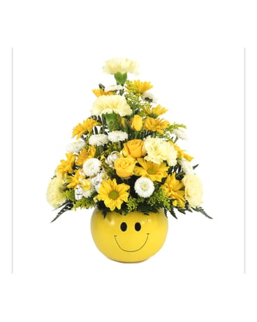 Smiley Face Bowl Bouquet