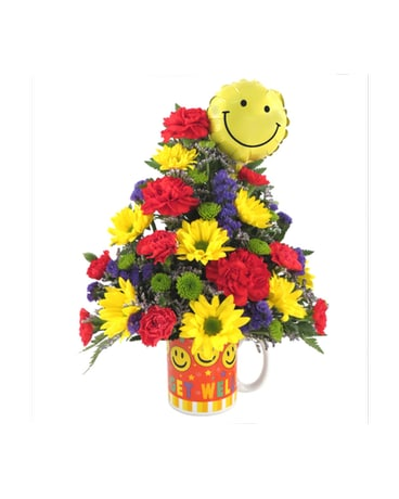Smiley Face Get Well Bouquet