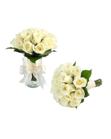 Brides Bouquet Two dz. Roses (Metro-Detroit Area O