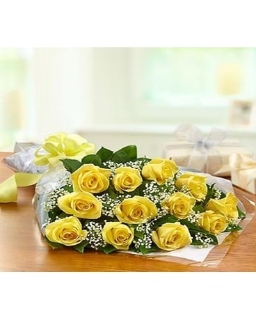 Wrapped Yellow Dozen
