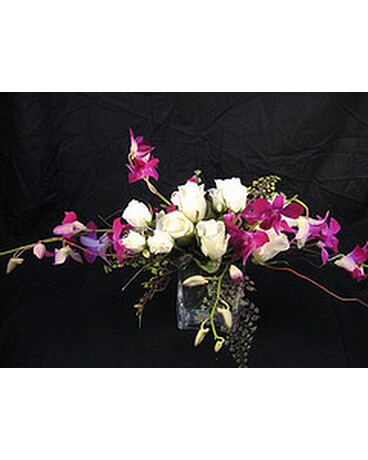 Horizontal Vase In Purple In Chapel Hill Nc Floral Expressions And