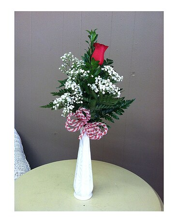 Single Rose Budvase In Creedmoor Nc Gil Man Florist Inc