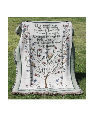 Serenity Prayer Afghan in New Albany IN - Nance Floral