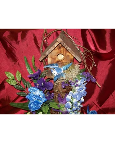 Birdhouse in Blue