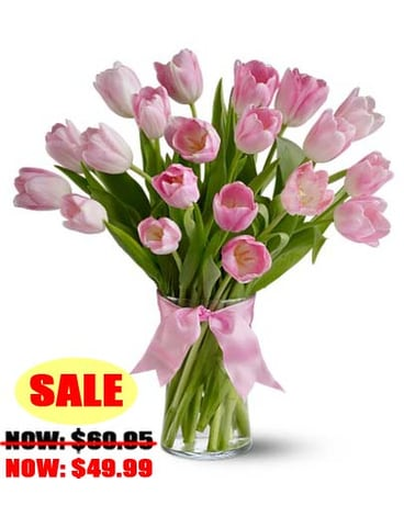 Spring Tulips Deluxe - Light Pink
