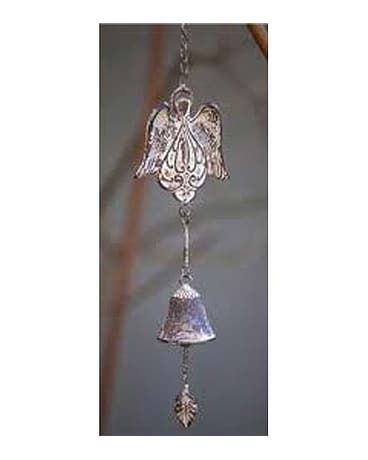 quick view angel wing ceramic wind chime bell