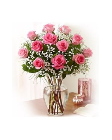 Elegance (Pink) Long Stem Roses
