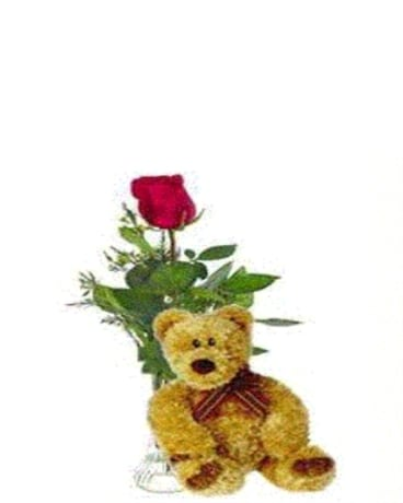 Bear Essentials Flower Arrangement