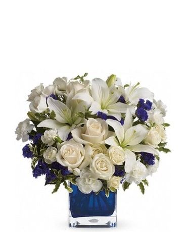 Sapphire Skies Bouquet in Hatfield PA, Plaza Flowers