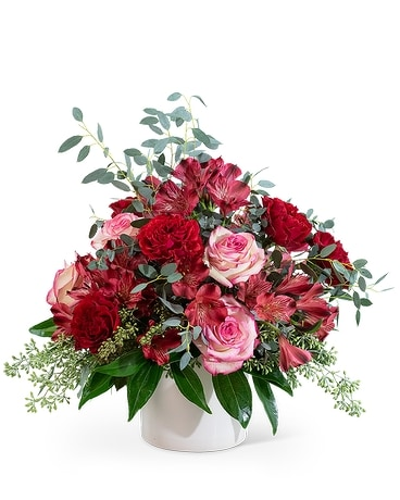 Red Velvet Flower Arrangement