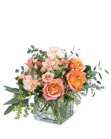 Living Coral Flower Arrangement