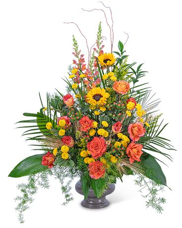 Sunset Reflections Urn Funeral Arrangement