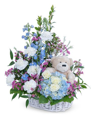 Beary Lovable Flower Arrangement