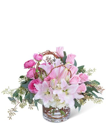Blush and Willow Flower Arrangement