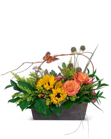A Walk at Sunset Flower Arrangement