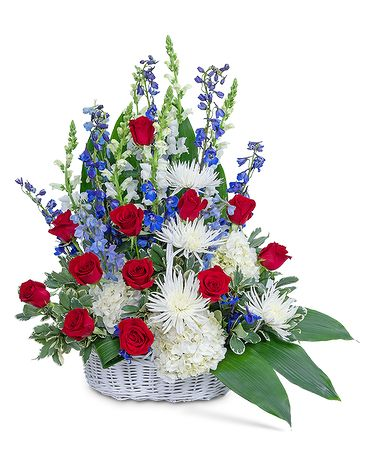 Freedom Tribute Basket Funeral Arrangement