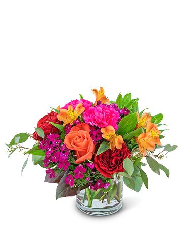 March Bouquet Mango Sunrise Flower Arrangement