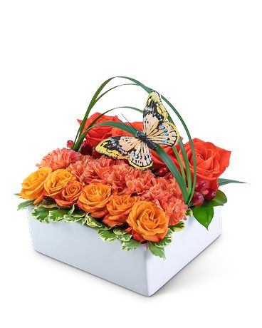 Butterfly Garden Pave Flower Arrangement
