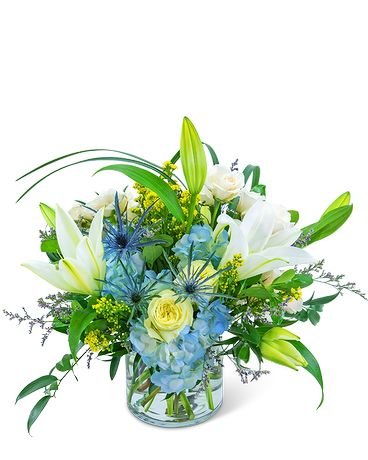 Luna Blue Flower Arrangement