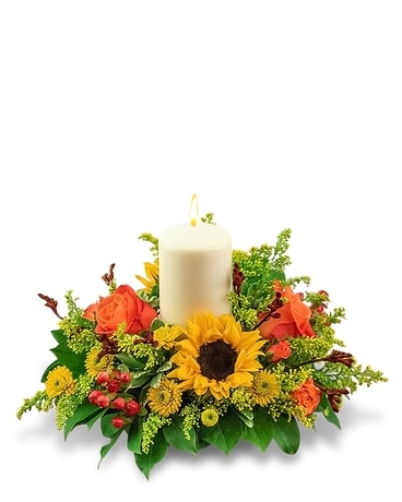 Seasonal Saffron Centerpiece